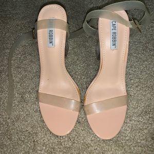 Kim Kardashian Yeezy Cape Robbin Clear Heels